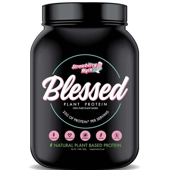 Blessed Plant Based Protein- Blessed Strawberry Mylk Plant Based Protein 30 Serves