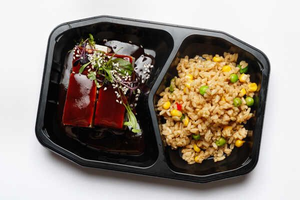 High Protein Tofu With Honey Soy Bbq