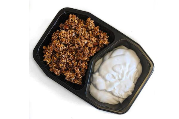 Natural Organic Coconut Yogurt With Organic Honey Granola Mix