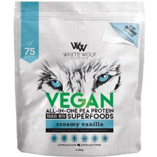 White Wolf Nutrition Vegan All In One Pea Protein Vanilla Flavour 75 servings